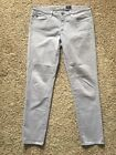 AG Adriano Goldschmied Stevie Ankle Slim Straight Cotton Pant Purple Lilac SZ 29