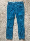 AG Adriano Goldschmied Stevie Ankle Slim Straight Corduroy Pants Low Rise SZ 29