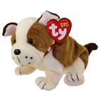 Ty HUGGINS Bulldog Beanie Babies Dog with Collar & Tags