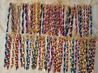 X 80 VTGTWISTED SHINY METAL 7 ICICLE ORNAMENTS X MAS MULTI COLORED NEVER USED