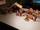 LARGE Vintage Atlantic Holland Mold Ceramic NATIVITY 22 Pc SET Manger Stable