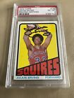 1972 Topps Basketball #195 Julius Erving HOF RC PSA 6 with Mint AUTO ROOKIE RARE