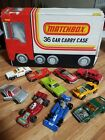 MATCHBOX 1978 CARRY CASE HOLDS 36 DIE CAST CARS W 3 TRAYS AND SOME CARS