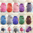 Dog Winter Warm Sweater Small Pet Knitted Jumper Coat Jacket Cat Clothes Apparel