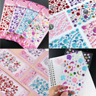 Self Adhesive Glitter Rhinestone Crystal Stickers Diamond Gem Decal 23 Colors
