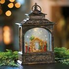 11 LED Lighted Christmas Nativity Scene Snow Globe Lantern