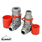 90 Degree Flat Face Hydraulic Quick Connect Coupler Set 3 4 JIC Male Thread