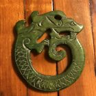 Antique Chinese Old Stone Jade Green Carving Artifact Asian Pendant Value $375