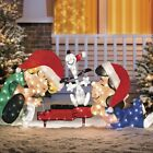 Lighted Peanuts Snoopy Schroeder Lucy Display Sculpture Outdoor Christmas Decor