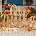 51 Give Thanks Metal Yard Decoration Sign Display Outdoor Fall Thanksgiving