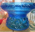 Vintage blue moon and stars candle holder