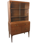 Mid Century Modern Vintage Curio China Cabinet Hutch by Angelus Funiture