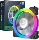 Aigo Aurora 5 IN 1 Kit 5 Pack RGB Halo Ring LED 120mm Computer Case Cooling Fan