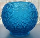 Vintage blue Smith Daisy and button rose bowl vase
