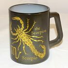 VTG The Scorpion Scorpio Federal Coffee Mug Black Astrological Sign USA Zodiac