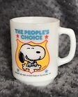 Anchor Hocking Snoopy Mug Cup 1980 Milk Glass The Peoples Choice #4 USA