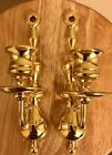 Brass Wall Sconce Candle Holder Pair Vintage Wall Sconce