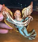 12 Large Nativity Italy Paper Mache Composition 6 Hanging Angel