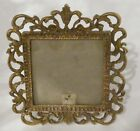 vintage ornate brass picture frame 5 x 5 easel back