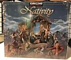 Kirkland Costco HTF Hand Painted Antique Style 10 Figures NATIVITY Set in Box