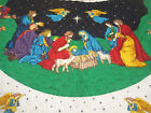 NATIVITY THE FIRST CHRISTMAS QUILTED FABRIC PANEL FABRIC TRADITIONS EASY SEW