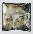 Vintage Dorothy C. Thorpe, Sterling Silver on Crystal Square Plate Ash Tray Dish