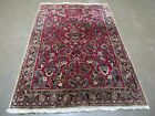 4' X 6' Antique 1920s Hand Made Persian  Sarouk Mahal Wool Rug Carpet Nice
