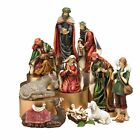 Jewel Tones Nativity Set Home Office Church Decor For Christmas Hand Painted