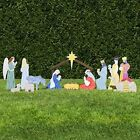 Outdoor Nativity Set 12 Colorful Figures PVC Plastic All Weather Fade Resistant