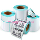 Thermal Paper Rolls Stickers Heat Sensitive Shipping Self Adhesive For Zebra