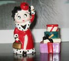 BETTY BOOP HOLIDAY SHOPPING SALT  PEPPER SHAKERS by VANDOR