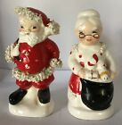 Vintage Mr and Mrs Claus Salt And Pepper Shakers