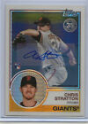 2018 Topps Update Chris Stratton RC Auto 1983 Chrome Silver Pack 3 99 Giants