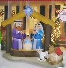 NEW Christmas Gemmy 8 FOOT Lighted LightShow NATIVITY Scene Inflatable Airblown