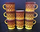 Yellow Glass KIMBERLY Coffee MUGS