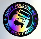 Jeep 35 Sticker Decal Car 3D Reflective SUV Truck Dont Follow me wrangler 4X4