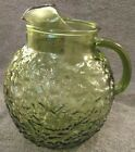 MINT VINTAGE ANCHOR HOCKING AVOCADO GREEN LIDO OR MILANO 2 QUART BALL PITCHER 9