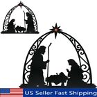 Nativity Silhouette with Lighted Star for CHRISTMAS Outdoor Stake Set Decoration