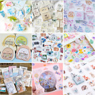 46PCS Novelty Stamps Stickers Kawaii Stationery DIY Scrapbooking Diary Stickers