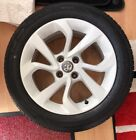 Vauxhall Corsa E White Alloy Wheel With New Kumho Tyre