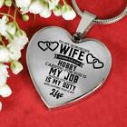To My Wife Miss You Love Husband Luxury Heart Shape Necklace Gift Birthday