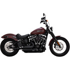 Vance  Hines 47233 HD Exhaust Black Shortshots Staggered 2018 Soft Tail