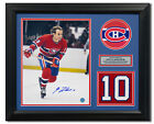Guy Lafleur Montreal Canadiens Signed Retired Jersey Number 23x19 Frame