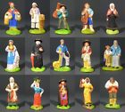 OldFrench SantonsTerracotta Nativity Figurines Provence Creche Village 15 pcs