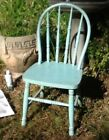 Childs Bentwood Chair Original Robins Egg Blue Paint Salem Church Mathews Va.