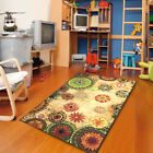 5x8 Contemporary Floral abstract Bright Color Non Skid Area Rug 770