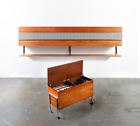 Mid Century Modern Stereo Console Stereotronic Hifi Teak Record Player Tube Amp