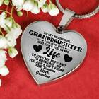 To my Granddaughter Love Grandma Heart Shape Necklace Gift for Granddaughter