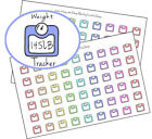 Weight tracker planner stickers scale fitness tracker happy planner