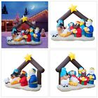 Nativity Scene Outdoor Christmas Inflatable 65 Ft Giant Lighted Patio Garden